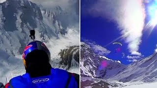Russian daredevil BASE jumps 7,700 metres in the Himalayas
