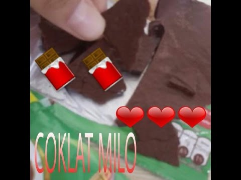 Video Cara membuat coklat Milo