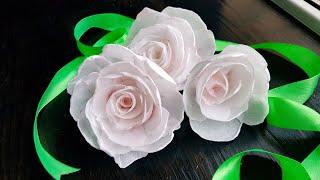ЦВЕТЫ из ВАФЕЛЬНОЙ БУМАГИ🌸 Waferpaper flower