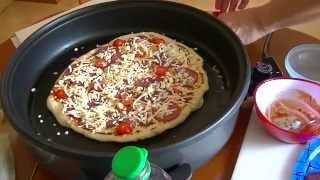 Tutorial * Pizza backen in der elektrischen Pfanne so gehts * Pfannenpizza *