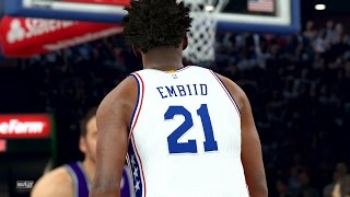NBA 2K17 4K Play Now - Joel Embiid Catching Lobs! 76ers PS4 Pro