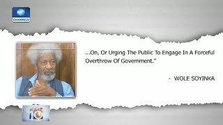 Soyinka Condemns Sowore's Arrest