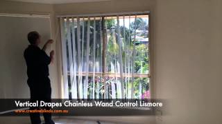 Vertical Drapes 127mm Wand Control Chainless Lismore