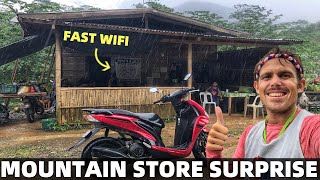 BecomingFilipino – FILIPINO MOUNTAIN STORE SURPRISE! Secret Fast Wifi Hut? Motor Vlog DAVAO