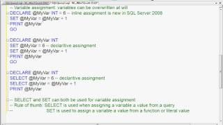 How to Declare and Initialize Variables in T-SQL - Part 2