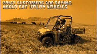 What Customers Are Saying about Cat Utility Vehicles