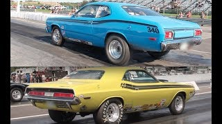 NHRA Racing with 2 Classic MOPARs