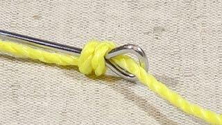 Как привязать крючок к леске восьмерка