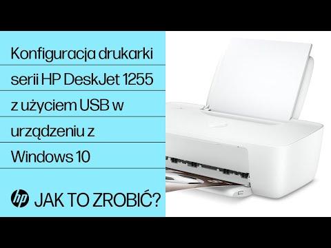 Konfiguracja drukarki serii HP DeskJet 1255 z użyciem USB w urządzeniu z systemem Windows 10