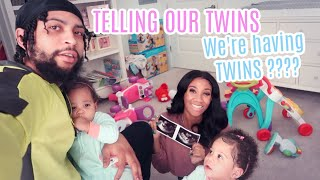 TELLING OUR TWIN DAUGHTERS WE ARE HAVING TWINS AGAIN ???