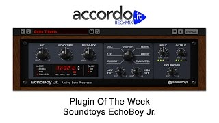 Soundtoys EchoBoy Jr. - RECnMIX Plugin Of The Week