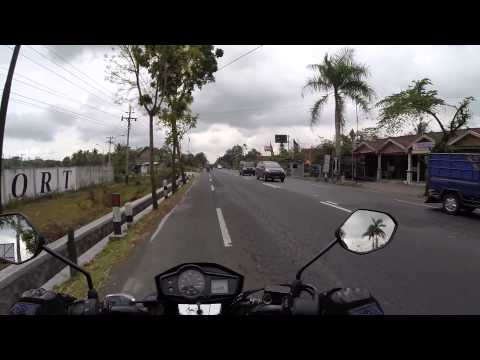 Riding Honda Verza 150 in Central Java