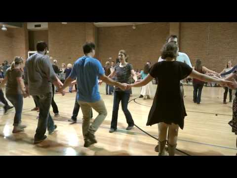 Contra Dancing Chattanooga - Chrissy Davis Camp with Rough Sawn Timber - Dancing Raindrops 'B'