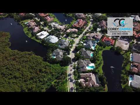 Bay Colony Shores Estate Homes Naples Florida video fly over