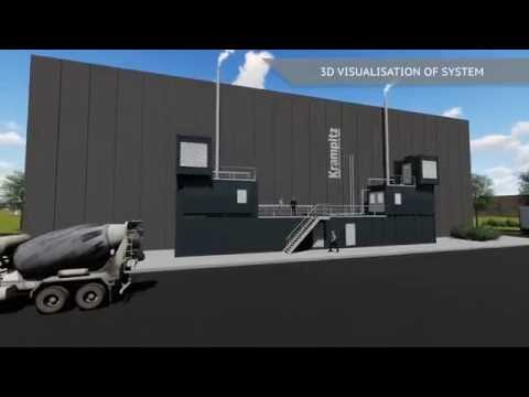 Animation of a Krampitz container plant for CHP systems