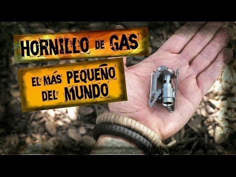 HORNILLO de GAS Más Pequeño del Mundo - BUSHCRAFT - ACAMPADA - TREKKING / World´s Smallest GAS STOVE