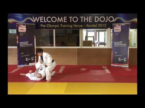 Judo technical osoto gari - outer leg sweep
