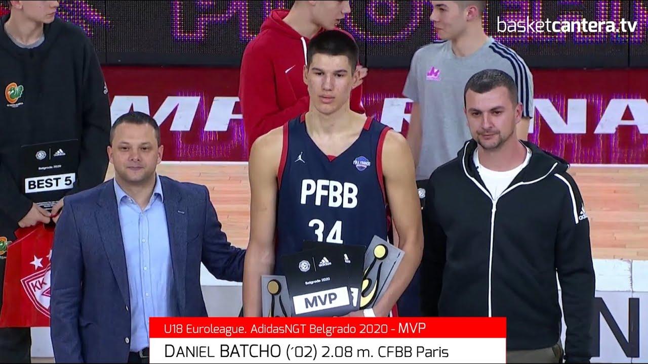 DANIEL BATCHO (´02) 2.08 m. U18 CFBB Paris. MVP EB.AdidasNGT. Belgrado. En 2021 en NCAA Arizona USA