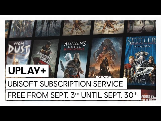 Ubisoft UPlay+ subscription service available for free