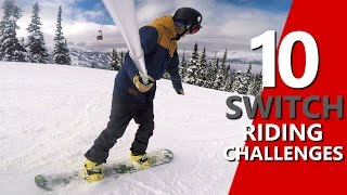 #14 Snowboard intermediate – Switch snowboard riding challenge