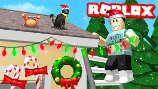 Getting ready for CHRISTMAS in ROBLOX BLOXBURG!