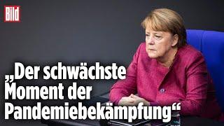 Merkel gesteht offen Regierungsversagen in der Corona-Krise