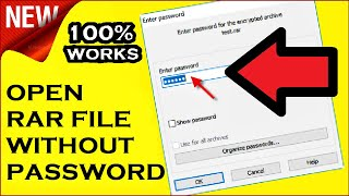 How to Open a RAR File without Password | With Demo