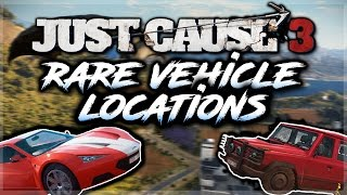 JUST CAUSE 3 ALL RARE VEHICLE LOCATIONS (Squalo X7, Verdeleon 3, Weimaraner W3, F1 Car AND MORE!!!)