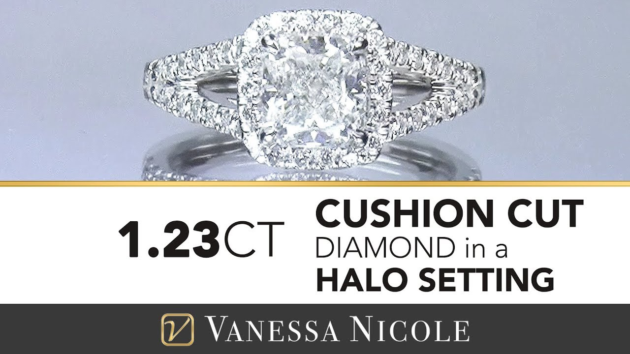 1.23ct Cushion Cut Diamond Ring
