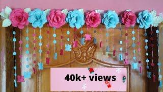 Beautiful Paper Rose Flowers Door Decoration Ideas/Door Hanging/Wall Hanging/Paper Craft Ideas