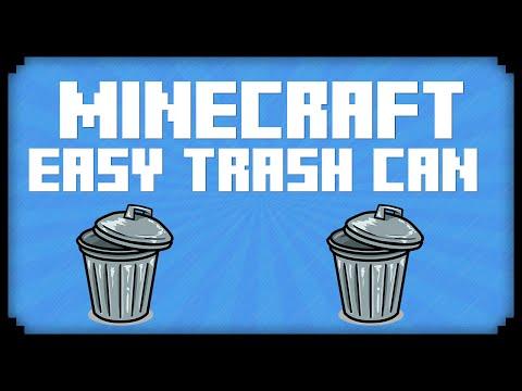 Minecraft: EASY TRASH COMPACTOR! (Minecraft 1.8.7 Tutorial)
