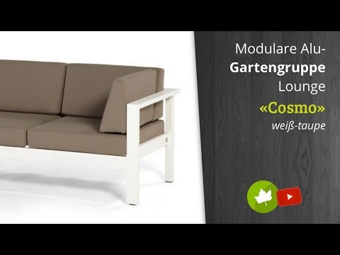 4Seasons Outdoor «Cosmo» Lounge-Modul-Serie in weiß oder taupe