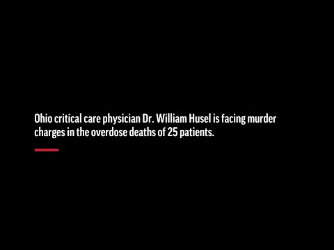 A critical care doctor facing murder charges in the overdose deaths of 25 patients has pleaded not guilty. A lawyer for Dr. William Husel said he didn't intend to kill patients. (June 5)