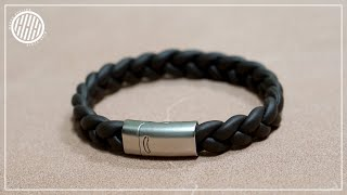 [Leather Craft] Braided Leather Bracelet / Easy DIY