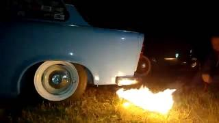 Trabant 601 Low flames from exhaust