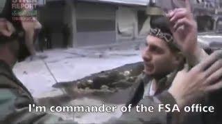 Смелый поступок сирийского офицера: Мустафа Шаддуд вышел к боевикам, чтобы поговорить.