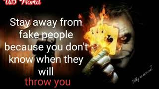 Joker Quotes On Fake Worlds Fake People , Watch And Remember