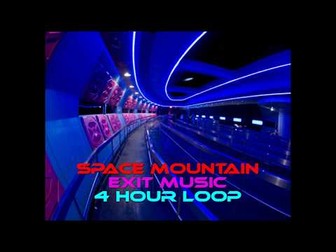 Space Mountain Attraction Exit Music ~ 4 Hour Loop ~ Queue Soundtrack ~ EXTENDED LOOP