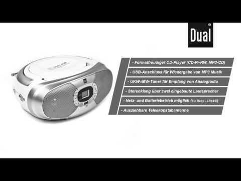 Dual P 390 Boombox, Radiorekorder mit CD- (MP3) und USB-Funktion