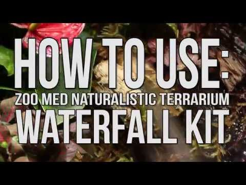 Setting Up The Naturalistic Terrarium Waterfall Kit By Zoo Med (Video)