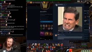 Asmongold Loses His Mind Over a Tweet From the Warcraft Devs Regarding Azerite Knowledge