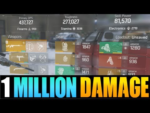 THE DIVISION - HOW TO GET 1 MILLION DAMAGE PER SHOT! BEST DAMAGE & DPS BUILD AFTER PATCH