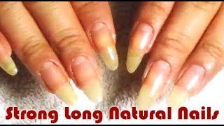 Strong Long Natural Nails, Crystal File & OPI NAIL ENVY! ☆ Zhyna