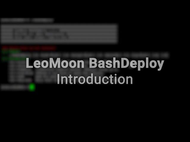 LeoMoon BashDeploy