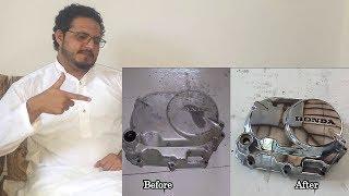 How to Polish Engine Cover - Engine cover restoration Jogi Baba Reaction