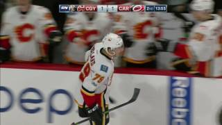 Nice block by Stone, great feed from Gaudreau and perfect finish by Ferland