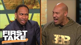 LaVar Ball And Stephen A. have an intense shouting match | First Take