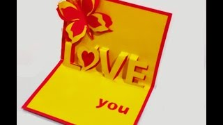 Love pop-up card. Great ideas for Valentine