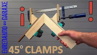 🔥 Best corner clamps jig for miter joints. Amazing woodworking techniques