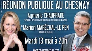 preview picture of video 'Discours de Marion Maréchal-Le Pen pour les élections Européennes au Chesnay'
